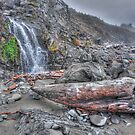 Waterfall on the Beach by Randall Scholten