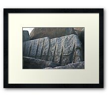 Rock Framed Print