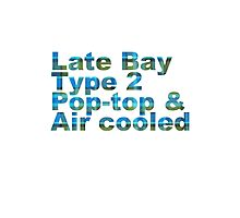 Late Bay Type 2 Pop Air Westfalia Plaid Photographic Print