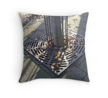 Autumn Carousel (leaves in radial grille, Burntisland) Throw Pillow