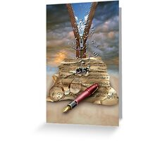 I WRITE THE SONGS........ Greeting Card