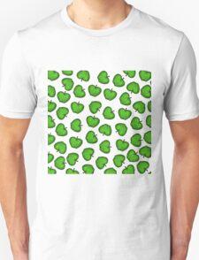 Cute Hand Drawn Green Fruity Apples Pattern T-Shirt