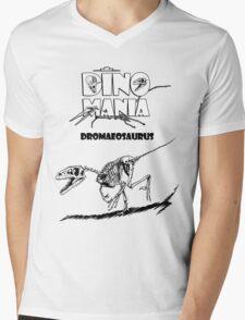 Dino Mania Dromaeosaurus Mens V-Neck T-Shirt