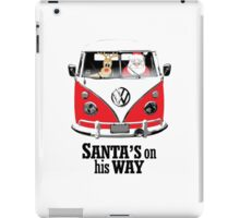 VW Camper Santa Father Christmas On Way Red iPad Case/Skin