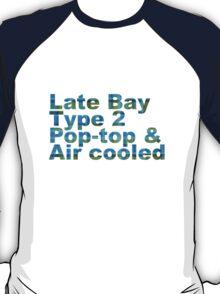 Late Bay Type 2 Pop Air Westfalia Plaid T-Shirt