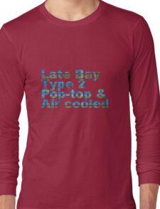 Late Bay Type 2 Pop Air Westfalia Plaid Long Sleeve T-Shirt