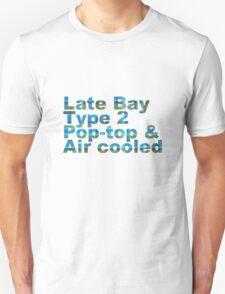 Late Bay Type 2 Pop Air Westfalia Plaid Unisex T-Shirt