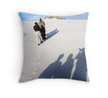 Shadow Photographers Throw Pillow