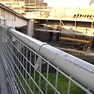 Lines Made Real (metal handrail & roofers' scaffolding) by armadillozenith