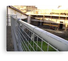 Lines Made Real (metal handrail & roofers' scaffolding) Canvas Print