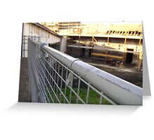 Lines Made Real (metal handrail & roofers' scaffolding) Greeting Card
