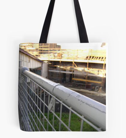 Lines Made Real (metal handrail & roofers' scaffolding) Tote Bag