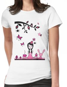 Pinky In Pinky Land T Womens Fitted T-Shirt
