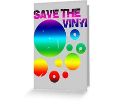Save The Vinyl colored Greeting Card