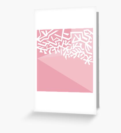White Ornament Greeting Card
