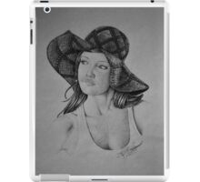Lady in the Light - Black & White iPad Case/Skin