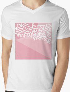 White Ornament Mens V-Neck T-Shirt