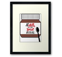 Nutella is My Spirit Animal Framed Print