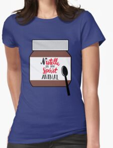 Nutella is My Spirit Animal Womens Fitted T-Shirt