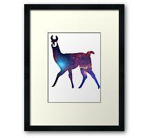 Space Llama Framed Print