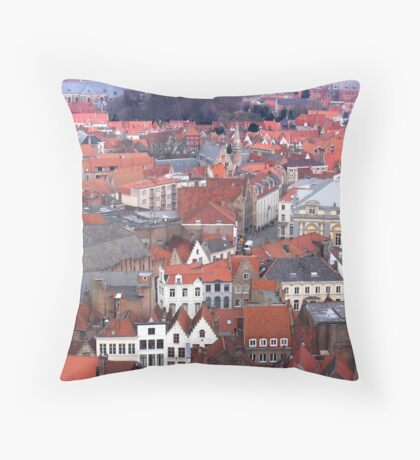 Bruges Terra Cotta Throw Pillow