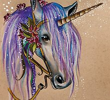 The Magical Faery Unicorn by Helenfaerieart
