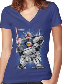 Zephyranthes Gundam Tees Women's Fitted V-Neck T-Shirt