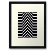 Lines - Triangles Down  Framed Print