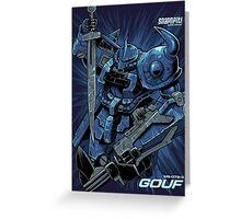 Gouf Custom Tees Greeting Card