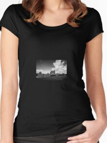 Ogmore Castle, South Wales, UK Women's Fitted Scoop T-Shirt