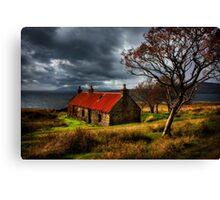 Ruin at Suisinish, Isle of Skye. North West Scotland. Canvas Print