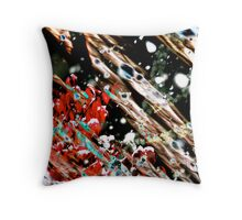 """Winter Stasis""  First Snow in Late Fall Throw Pillow"
