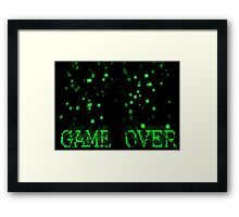 Game Over - Matrix Framed Print