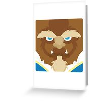 Beast, Beauty and the Beast Greeting Card