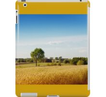 Rural wheat field view iPad Case/Skin
