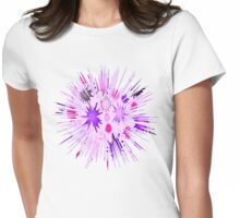 Splatter Womens Fitted T-Shirt
