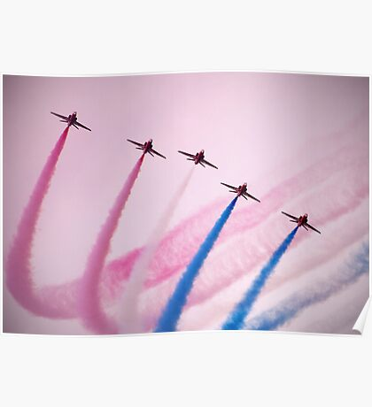 Red Arrows over Southport Poster