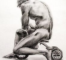 Man on Tricycle by Mark Ramstead