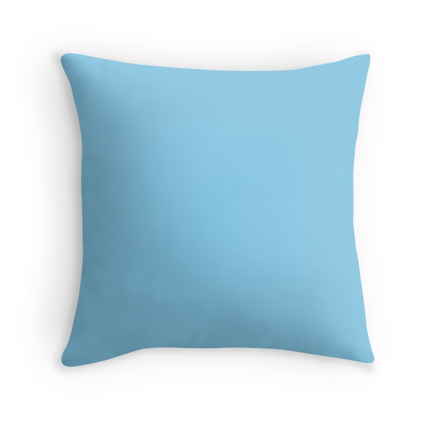 Baby Blue And Brown Throw Pillows :
