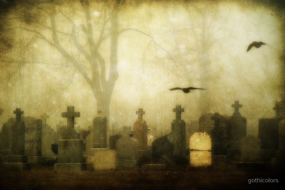 Foggy Cemetery  by gothicolors
