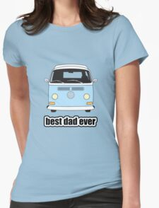 Best Dad Ever Pale Blue Early Bay Womens Fitted T-Shirt