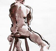 Man on Stool by Mark Ramstead
