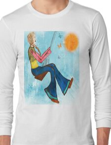 Swing With Butterflies Long Sleeve T-Shirt