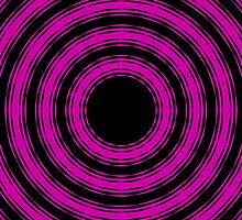 In Circles (Pink Version) by Roz Abellera Art Gallery
