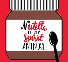 Nutella is My Spirit Animal Card by noeldolan