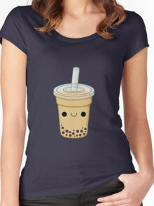 Cute Bubble Tea Women's Fitted Scoop T-Shirt