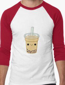Cute Bubble Tea Men's Baseball ¾ T-Shirt