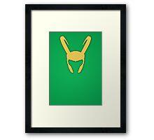 Minimalist - Loki Framed Print