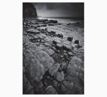 Rock Patterns at Llantwit Major Beach Kids Tee