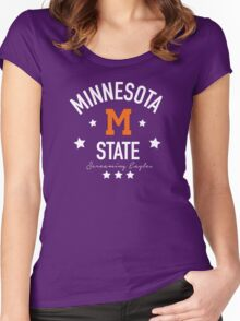 Minnesota State Screaming Eagles Women's Fitted Scoop T-Shirt